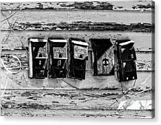 Freret Street Mailboxes - Black And White -nola Acrylic Print by Kathleen K Parker