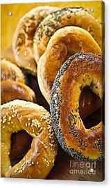 Fresh Bagels Acrylic Print by Elena Elisseeva
