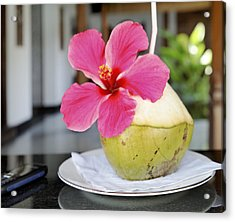 Fresh Coconut Milk Cocktail Acrylic Print by Kantilal Patel