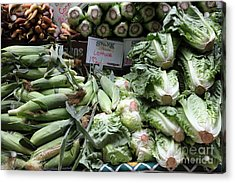 Fresh Corn Lettuce And Carrots - 5d17819 Acrylic Print by Wingsdomain Art and Photography