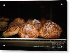 Fresh Croissants Paris Acrylic Print by Ei Katsumata