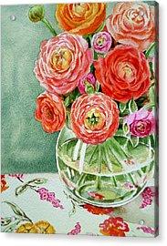 Fresh Cut Flowers Acrylic Print by Irina Sztukowski