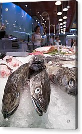 Fresh Fish On The Market Acrylic Print by Matthias Hauser