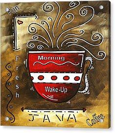 Fresh Java Original Painting Acrylic Print by Megan Duncanson