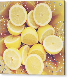 Fresh Lemons Acrylic Print by Amy Tyler