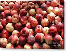 Fresh Nectarines - 5d17813 Acrylic Print by Wingsdomain Art and Photography