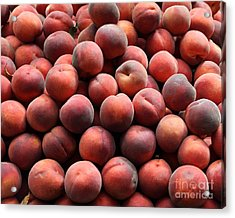 Fresh Peaches - 5d17816 Acrylic Print by Wingsdomain Art and Photography