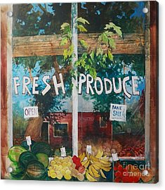 Fresh Produce Acrylic Print by Micheal Jones
