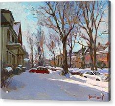 Fresh Snow Acrylic Print by Ylli Haruni