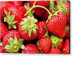 Fresh Strawberries Acrylic Print by Marta Holka