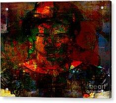 Frida In Mixed Media Acrylic Print by Fania Simon
