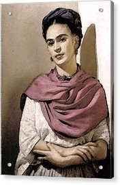 Frida Interpreted 2 Acrylic Print by Lenore Senior
