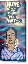 Frida Kahlo Acrylic Print by Tony B Conscious