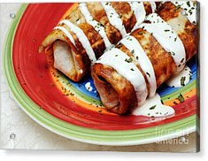 Fried Chili Cheese Burrito Acrylic Print by Andee Design