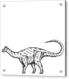 Friendlysaurs - Dinosaur Acrylic Print by Karl Addison