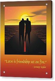 Friendship Poster Acrylic Print