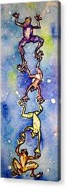 Frog Totemtoad'em Acrylic Print by Gloria Avner