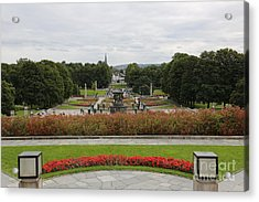 Frogner Park Acrylic Print by Carol Groenen