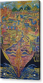 From Land We Sail To See Acrylic Print by Timothy  Foley