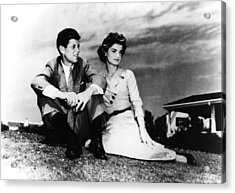 From Left, Senator John F. Kennedy Acrylic Print by Everett