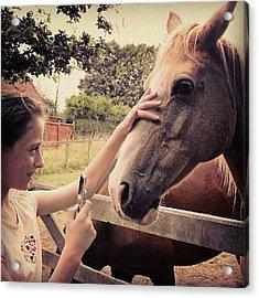 From Saturday.... #girl #horse #horses Acrylic Print