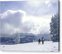 from the top of Sunshine chair Acrylic Print