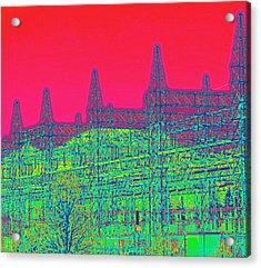 Front Range Acrylic Print by Rosemarie Hakim