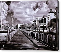 Front Street Boardwalk - Infrared Acrylic Print