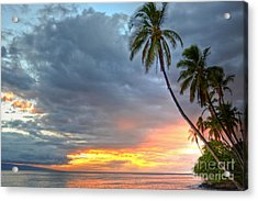 Front Street Sunset Acrylic Print by Kelly Wade