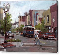 Front Street Acrylic Print by Todd Baxter