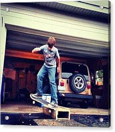 Frontside Crooked Grind. #skateboarding Acrylic Print