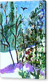 Acrylic Print featuring the painting Frosty Morning by Paula Ayers