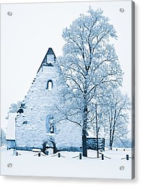 Frosty Ruins Acrylic Print