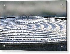 Frosty Swirls Acrylic Print by Wanda Brandon