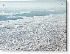 Frozen And Ice Covered Gulf Of Finland Acrylic Print by Photography by Oleg Pulemjotov (Photogruff)