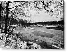Frozen Central Park At Dusk Acrylic Print by John Farnan
