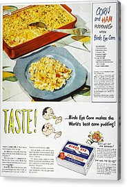 Frozen Food Ad, 1947 Acrylic Print by Granger