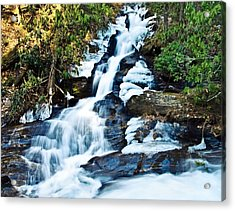 Acrylic Print featuring the photograph Frozen Waterfall by Susan Leggett