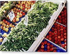 Fruit And Vegetable Stand Acrylic Print by Jeremy Woodhouse