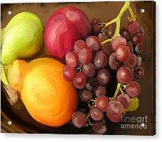 Fruit Aplenty Acrylic Print by Anne Ferguson