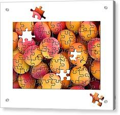 Fruit Jigsaw1 Acrylic Print by Jane Rix