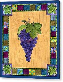 Fruit Of The Vine Acrylic Print by Pamela  Corwin