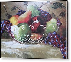 Fruit Still-life  Acrylic Print by Kay Novy