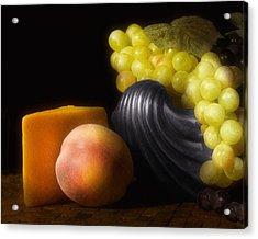Fruit With Cheese Acrylic Print by Tom Mc Nemar