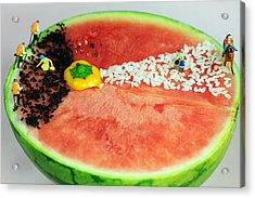 Fruits Depicting Kepler's Law Acrylic Print by Paul Ge