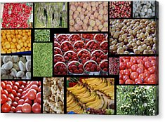 Fruits Mosaic Acrylic Print by Francois Cartier