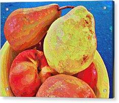 Acrylic Print featuring the digital art Frutbol by Ginny Schmidt