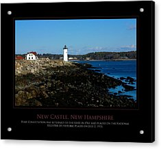 Ft Constitution - Nh Seacoast Acrylic Print by Jim McDonald Photography