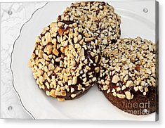 Fudge Nut Delights Acrylic Print by Andee Design