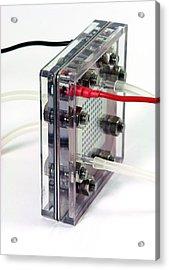 Fuel Cell Acrylic Print by Friedrich Saurer